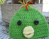 Crochet Parrot BabyBeanie Hat- Every pirate needs a parrot - Aaargh!