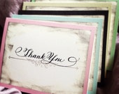 Calligraphy Vintage Thank You Card Set of 10 Love No. 24.002 dark Purple