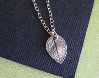 Leaf Necklace, Sterling Silver Necklace, Natural Jewelry, Leaf Pendant, Silver Necklace, Leaf Jewelry, Leaf Charm
