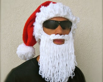 Santa beard hat The Original Beard Beanie™ holiday long beard costume