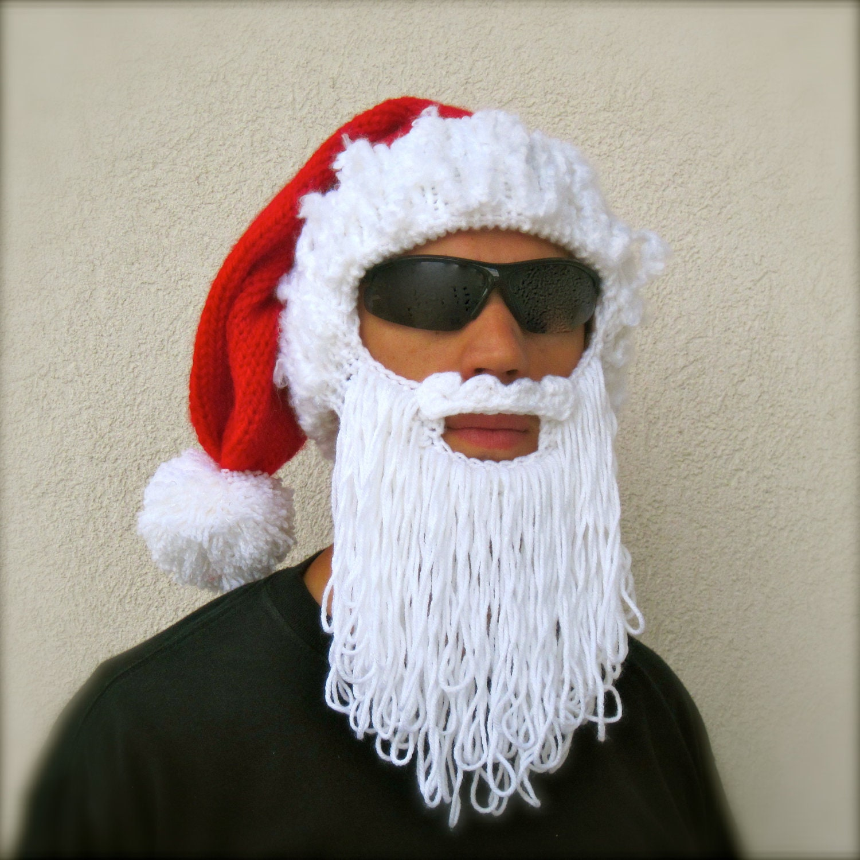 Santa beard hat The Original Beard Beanie  holiday long beard