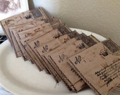 Wedding Love Letter - Victorian Paris - Paper Pockets - Distressed Victorian Style Letters