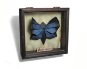 Jenny the Butterfly - Origami Shadowbox Art by Paper Disciple