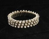 Vintage Hong Kong Rhinestone Expansion Wedding Bracelet 1950s