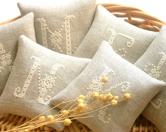 personalized bridesmaid gift - embroidered lavender sachets - made to order