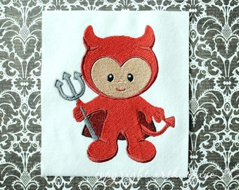 Devil, INSTANT DIGITAL DOWNLOAD, Halloween Embroidery Design for Machine Embroidery 5x7