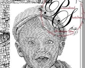 11x14 custom portrait  with additional calligraphy of one Personalized Sketches artwork RESERVE for Keshia