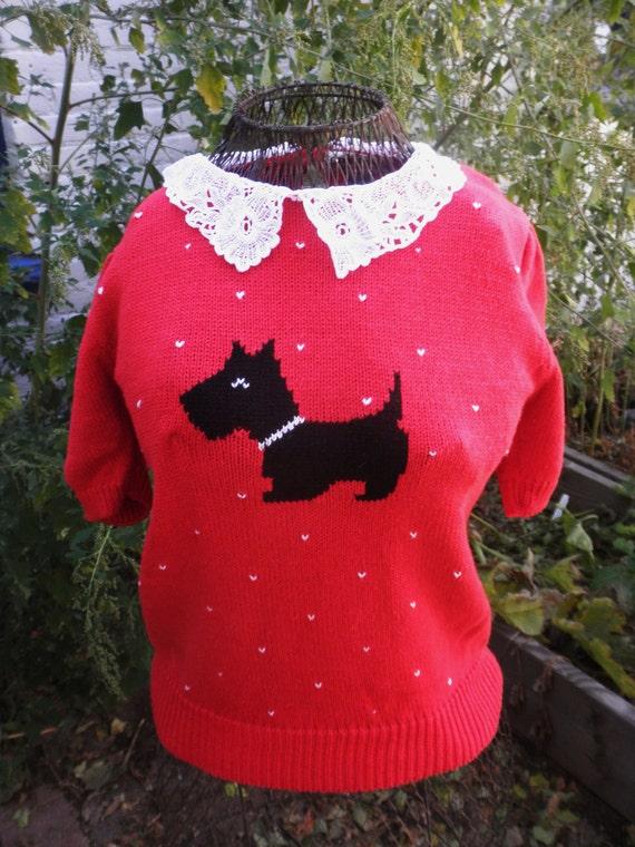 Little Scottie Sweater by Crystal Sportswear LTD XS/S/M