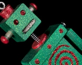 Robot Ornament Green/Red