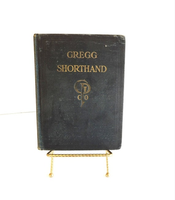 1916 Vintage Book Gregg Shorthand Antique Speed Writing