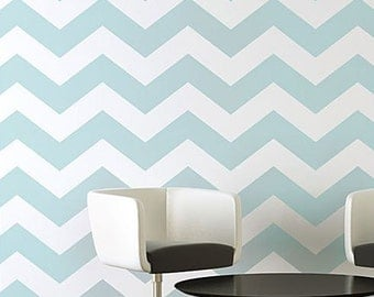 Chevron Stencil - Large - Reusable Wall stencil patterns - allover stencils instead of wallpaper - DIY decor