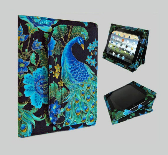 iPad Cover Hardcover, iPad Case, iPad Mini Cover, iPad Mini Case, iPad Air Case, iPad Air Sleeve, iPad 2, iPad 4, iPad 5 Peacock
