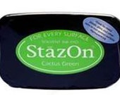 Tsukineko StazOn Solvent Ink Pad - Cactus Green