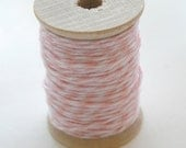 Baker's Twine - 20 Yards - Blossom - Baby Pink - 4 Ply Twine on Wooden Spool