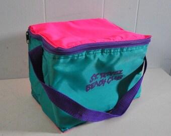 Neon Mini Cooler Lunchbag Tote St Tropez Beach Club Small Womens Ladies Kids