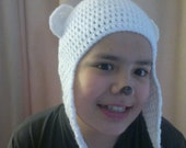 Versatile Crochet Pattern Bear Beanie Hat & Earflap  6 Sizes Doll - Newborn - Baby  to  Adult  Number 18