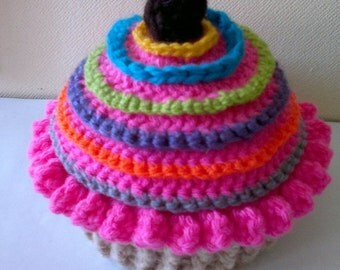 Easy CupCake Hat Crochet Pattern  All Sizes  Newborn to Adult Number 43 Instant Download