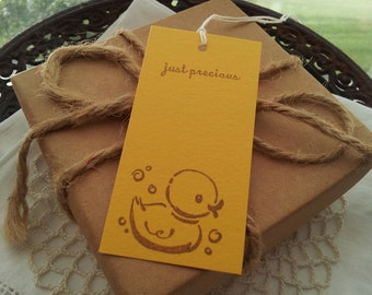 SALE Baby Shower Rubber Duck Mini Wish Tags Set of 50