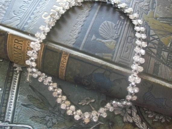 Breathless- Gorgeous Vintage Rhinestone  Necklace, Wedding Necklace, Bridal Necklace, Wedding Jewelry