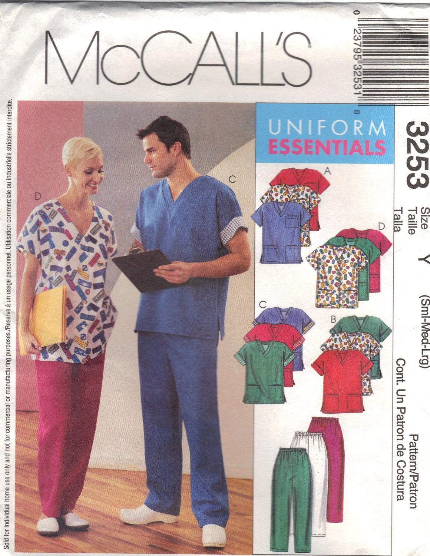 Mccalls 3253 Sewing Pattern Medical Scrubs Uniform Essentials