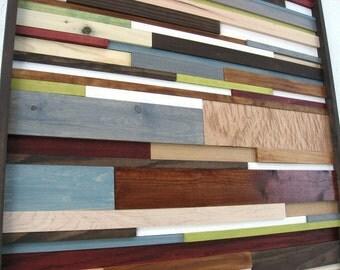 Reclaimed Wood Art, Wood Wall Art, Rustic Art, Home Decor, Wood Wall Installation