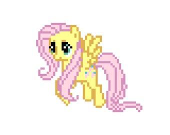 Fluttershy (My Little Pony: Friendship Is Magic) - Cross Stitch Pattern