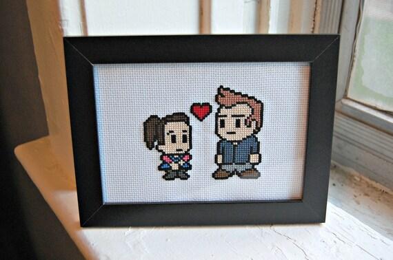 Jeff and Annie (Community) - Cross Stitch Pattern