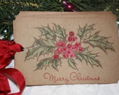 Gift Tags - Holly Berry -  Merry Christmas