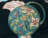 RESERVED for JANINE EHLLEN Unusual H Bequet Majolica Pitcher