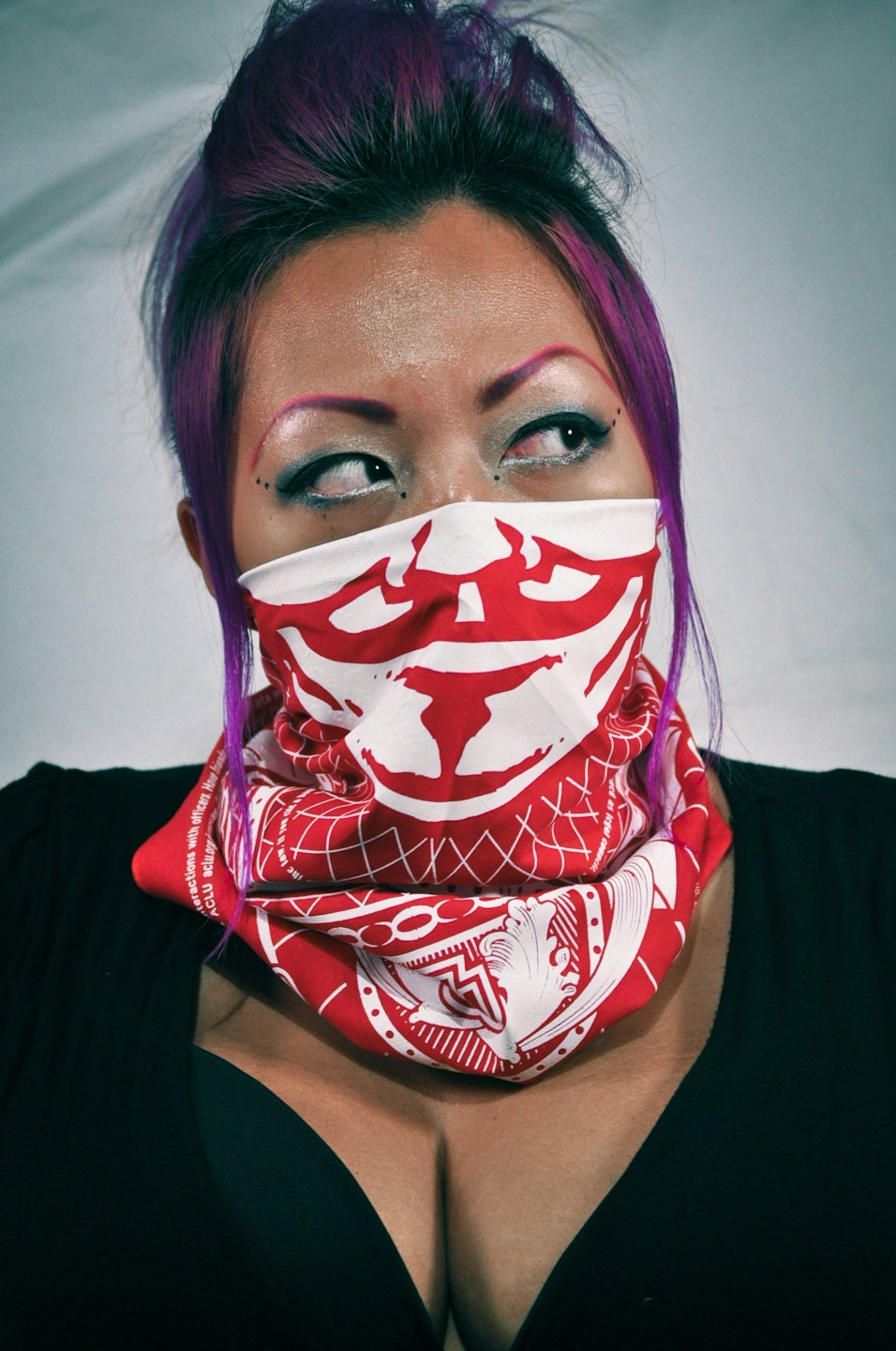 OWS Bandana in RED by GiantEye on Etsy