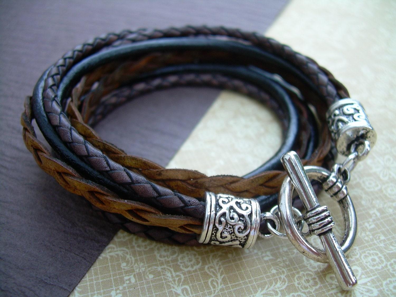 Womens Leather Bracelet Leather Bracelet Wrap Bracelet