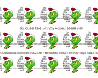 ... the Grinch Would Steal Me adorable bottle cap images 4 x 6 printable