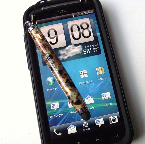 Stylus - Mini Soft Touch Stylus for Cell Phones and Tablets - Hand Turned Acrylic Stylus- Perfect Stocking Stuffer Gift