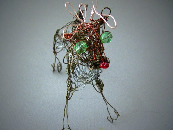 Reindeer Christmas Wire Decoration