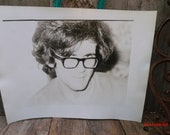 1970s Vintage Black and White Photograph Art Student Study Portraits & More Austin Texas Large Photo of Man In Glasses