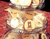 Rustic Tree Stump Wedding Favor Personalized Magnets  100 Magnets