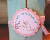 Glamping Invitations, Camping Invitations, Girl Birthday - Set of 8