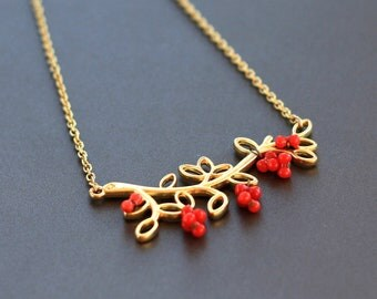 golden bough necklace