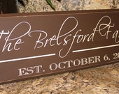 Family sign, Personalized Family Sign, Family Established Board
