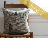 SALE black ships pillow cover