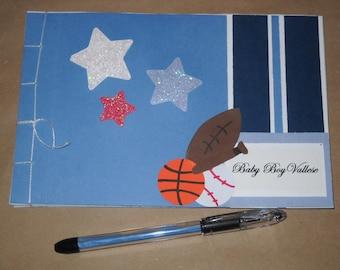 Sports Baby Shower  or Birthday Guest Book Album