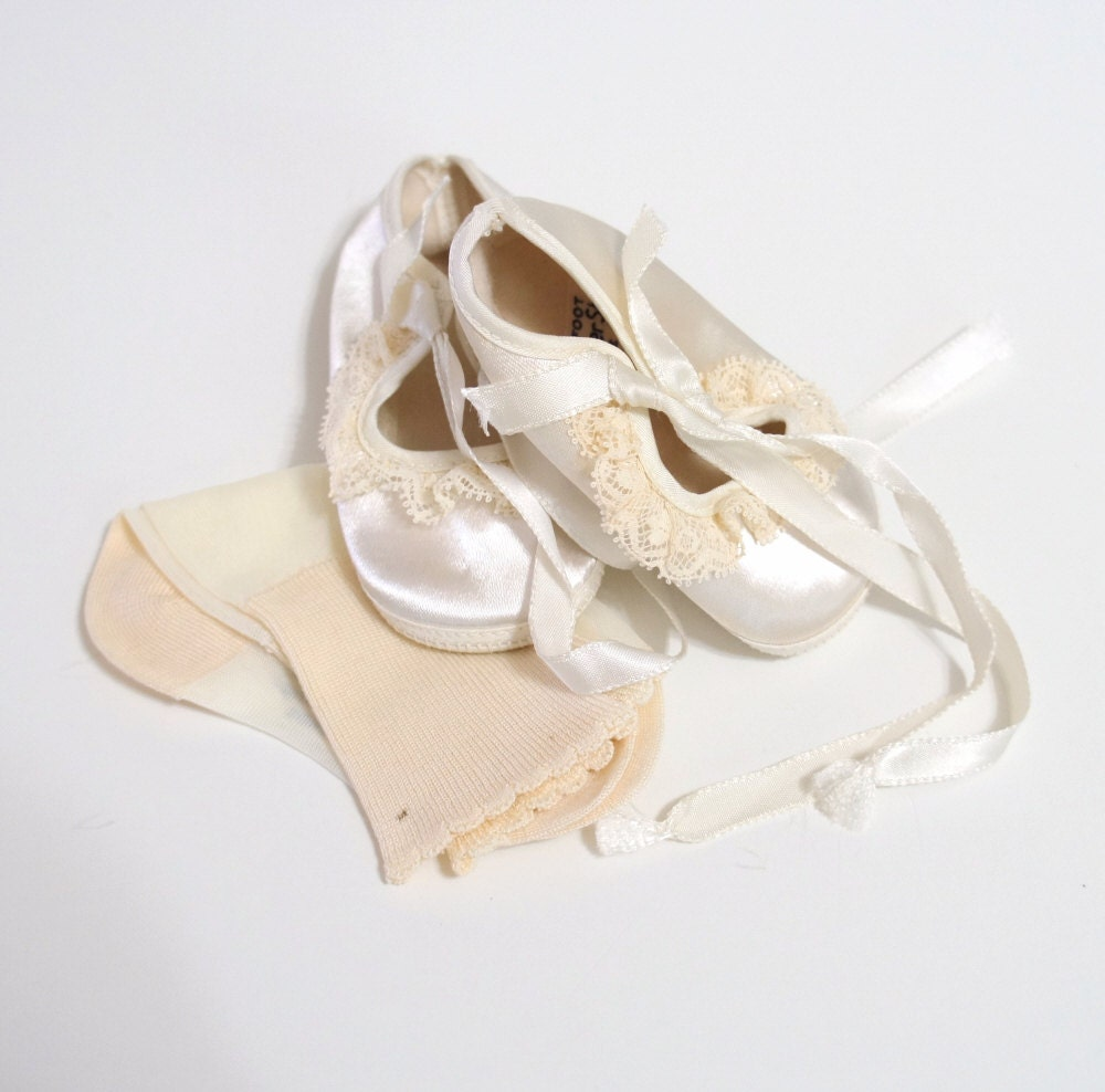 Baby Christening Shoes Ivory Trimfoot Baby Deer Shoes
