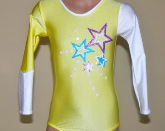 Long Sleeve Leotard Inspired by The American Girl Doll McKenna. Size 2t - Girls 10