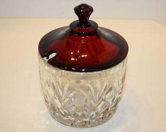 Anchor Hocking Glass Company Royal Ruby Marmalade