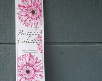 Perpetual Birthday Wall Calendar – flowers and plants