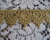Gold Metallic Venise Lace 1 Yard