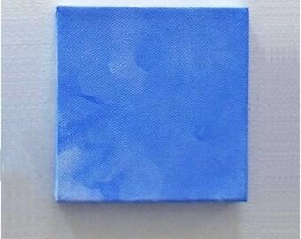 Boy's Room Decor - Baby Boy's Room Decor - Little Boy's Room Decor - Mini Canvas Art Square - 4x4 Blue