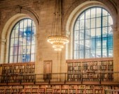 NYC library photograph - New York City library reading room books literature architecture marble lobby - nyc0034 - DeepLightPhotography