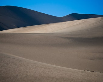 Shadows on the Eureka Dunes Fine Art Print