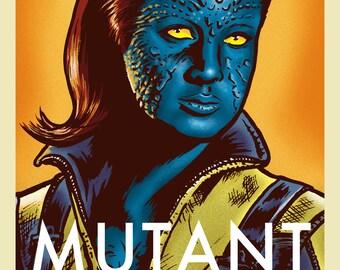 Mystique X-Men First Class print